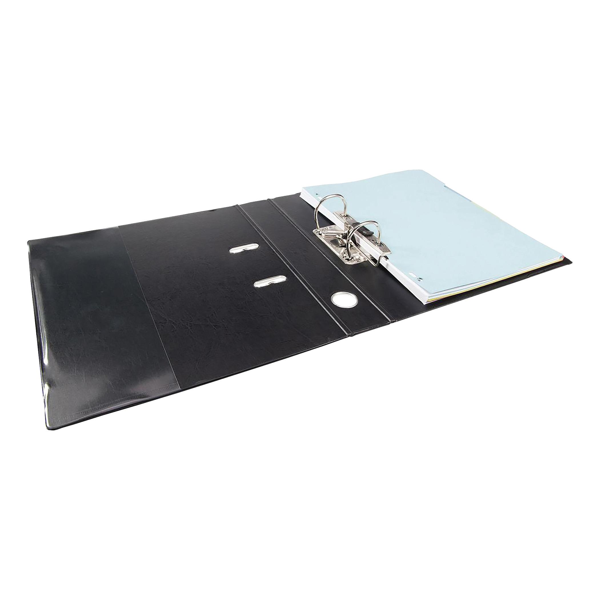 Elba Mini Lever Arch File Polypropylene 50mm Spine A4 Black Ref 100202102 [Pack 10]