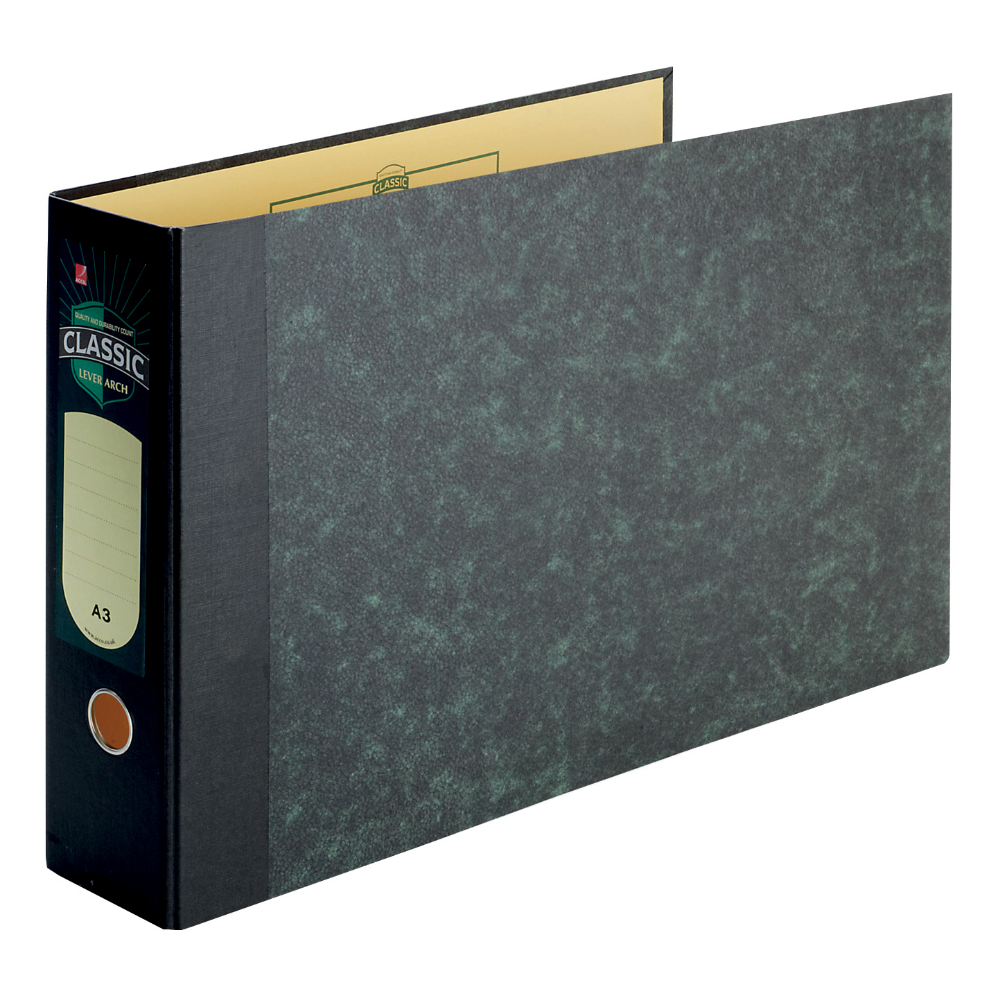 Rexel Classic Lever Arch File Unslotted 80mm Spine Oblong A3 Cloudy Grey Ref 26435EAST Pack 2