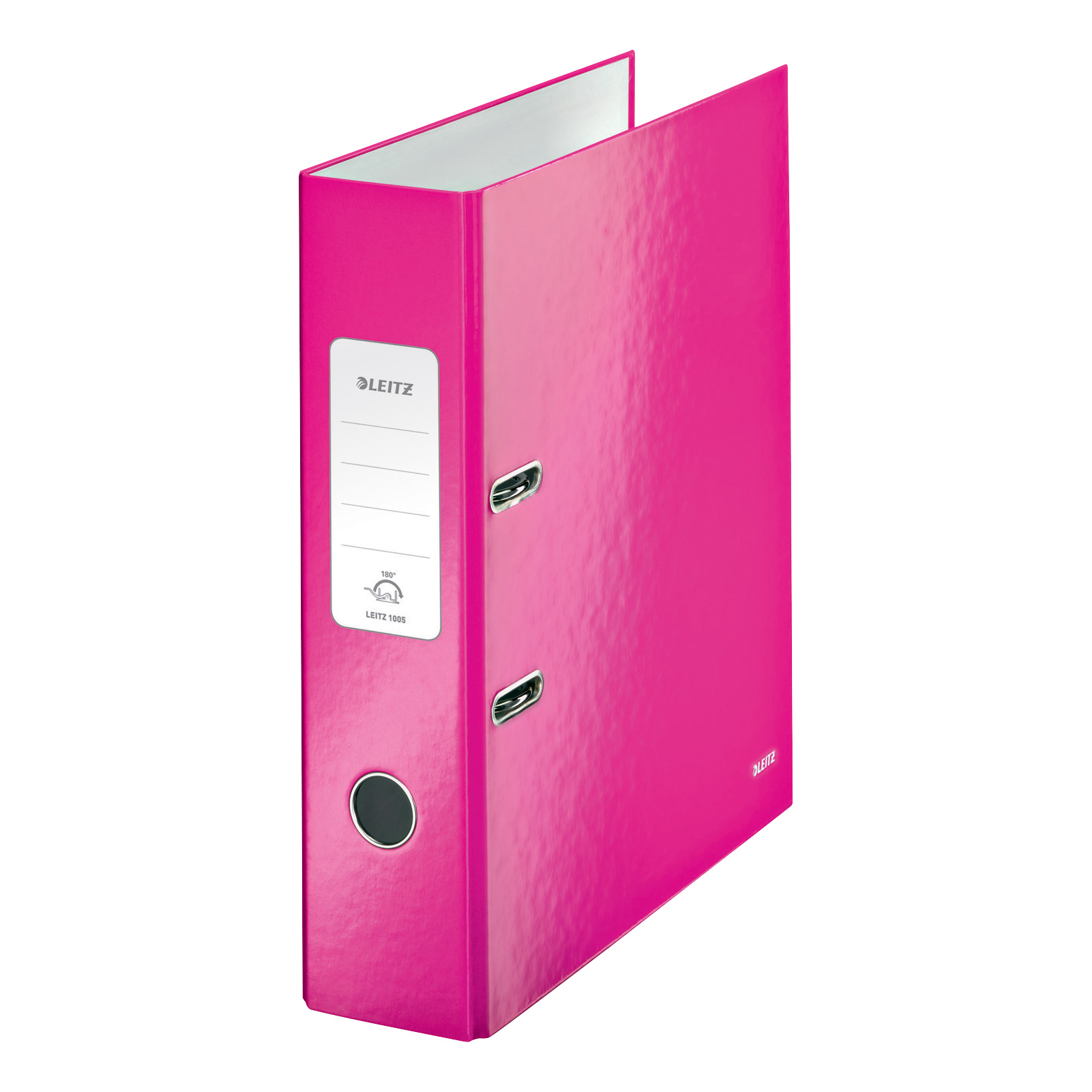 Leitz WOW Lever Arch File 80mm Spine for 600 Sheets A4 Pink Ref 10050023 [Pack 10] [COMPETITION]