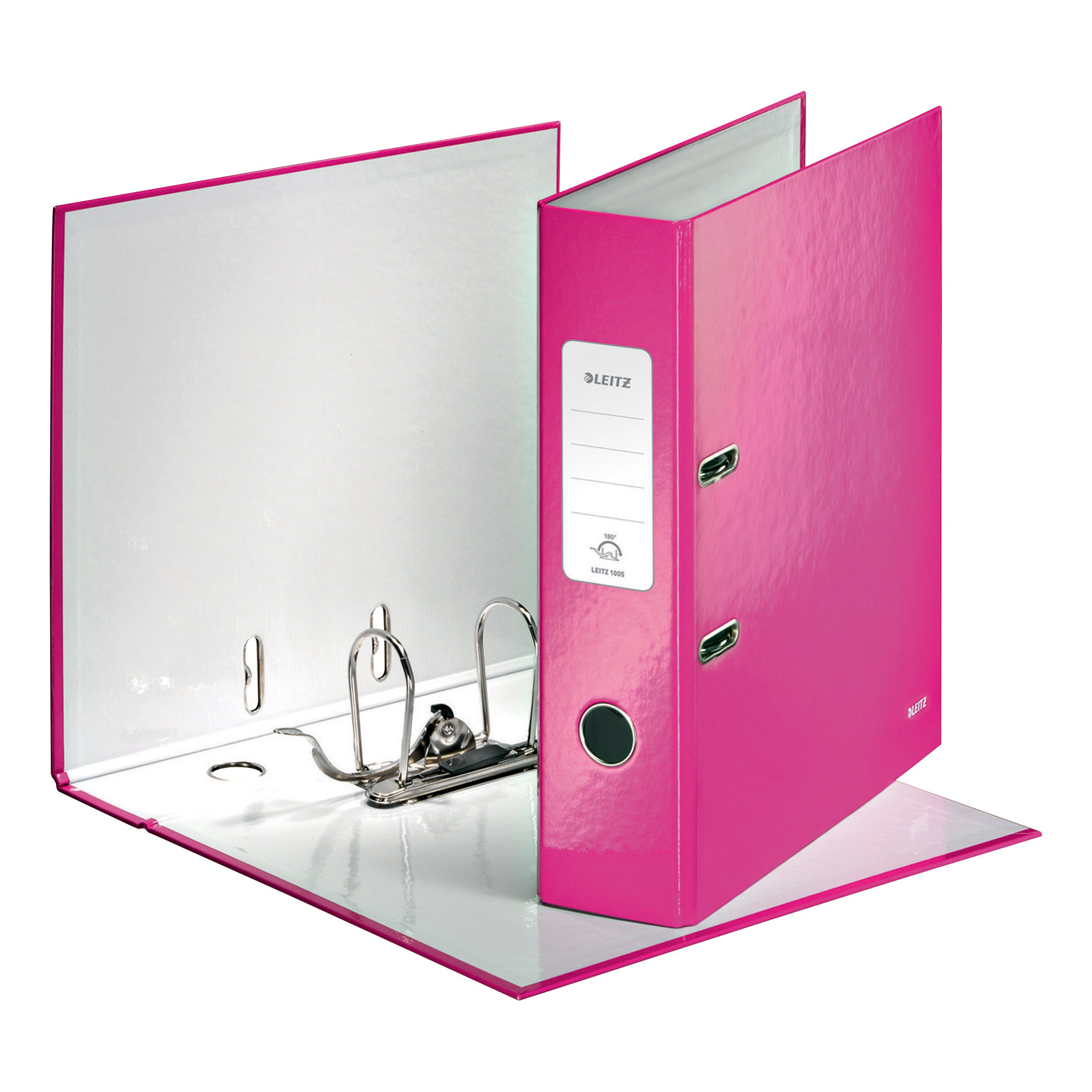 Leitz WOW Lever Arch File 80mm Spine for 600 Sheets A4 Pink Ref 10050023 Pack 10