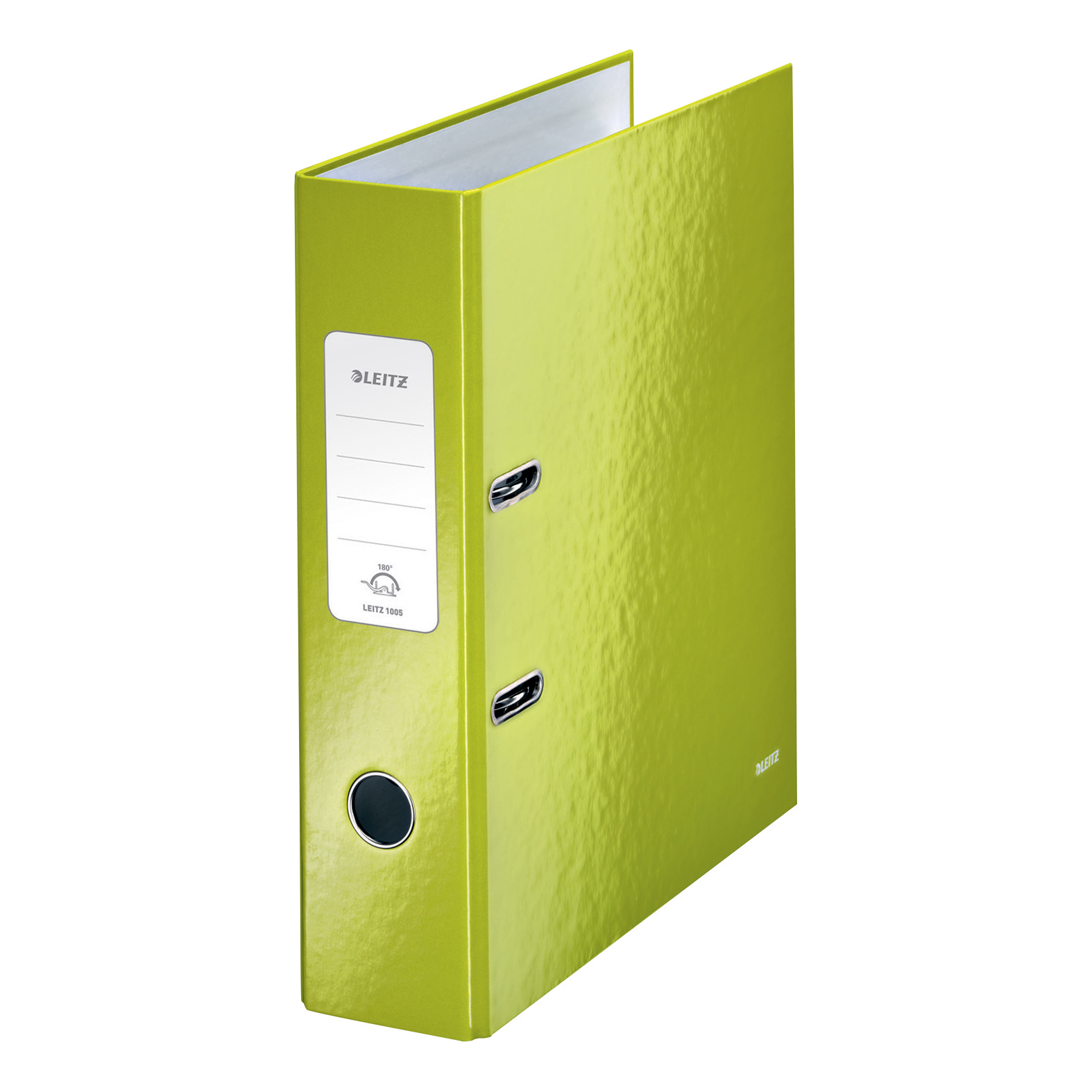 Leitz WOW Lever Arch File 80mm Spine for 600 Sheets A4 Green Ref 10050064 [Pack 10] [COMPETITION]