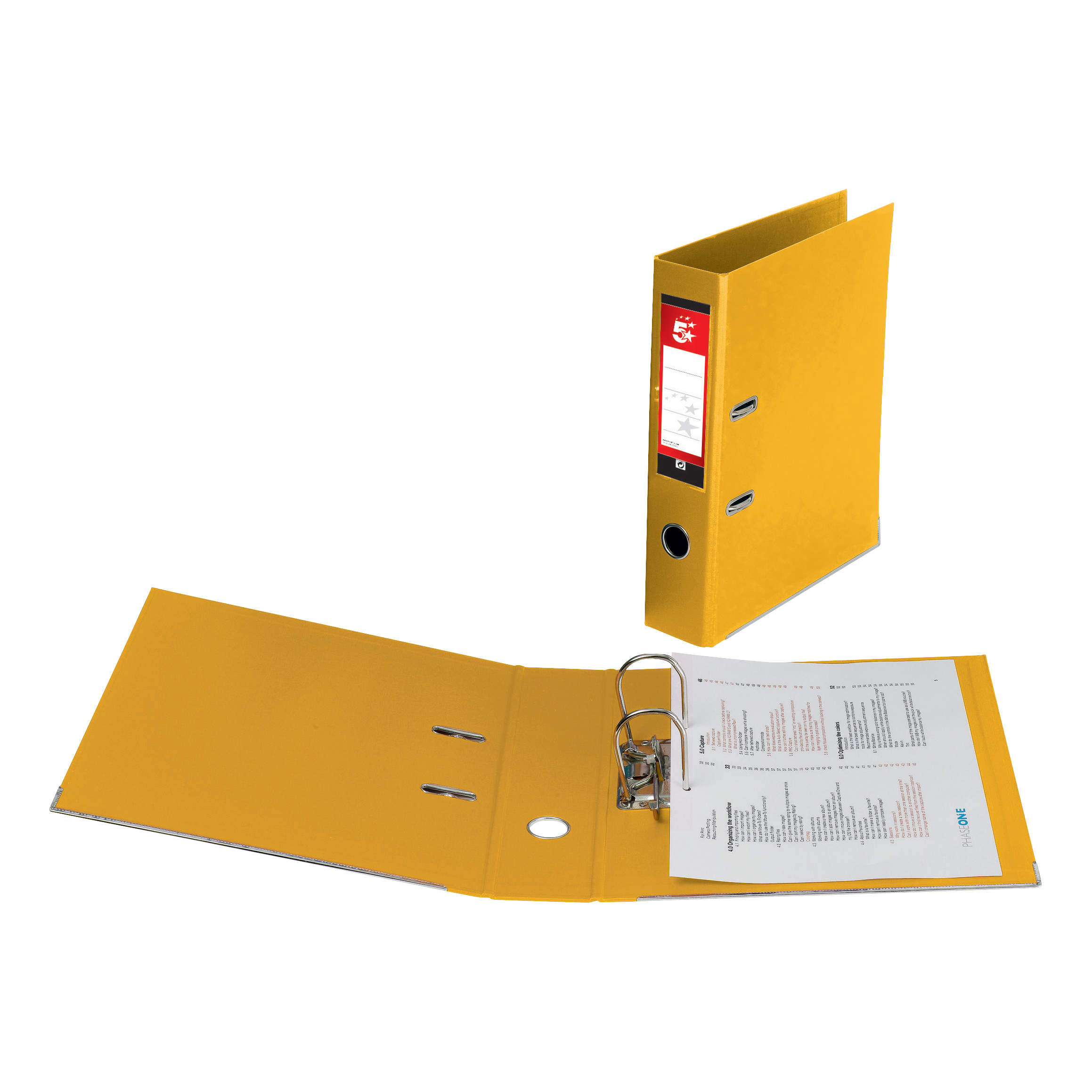 5 Star Office Lever Arch File Polypropylene A4 Yellow
