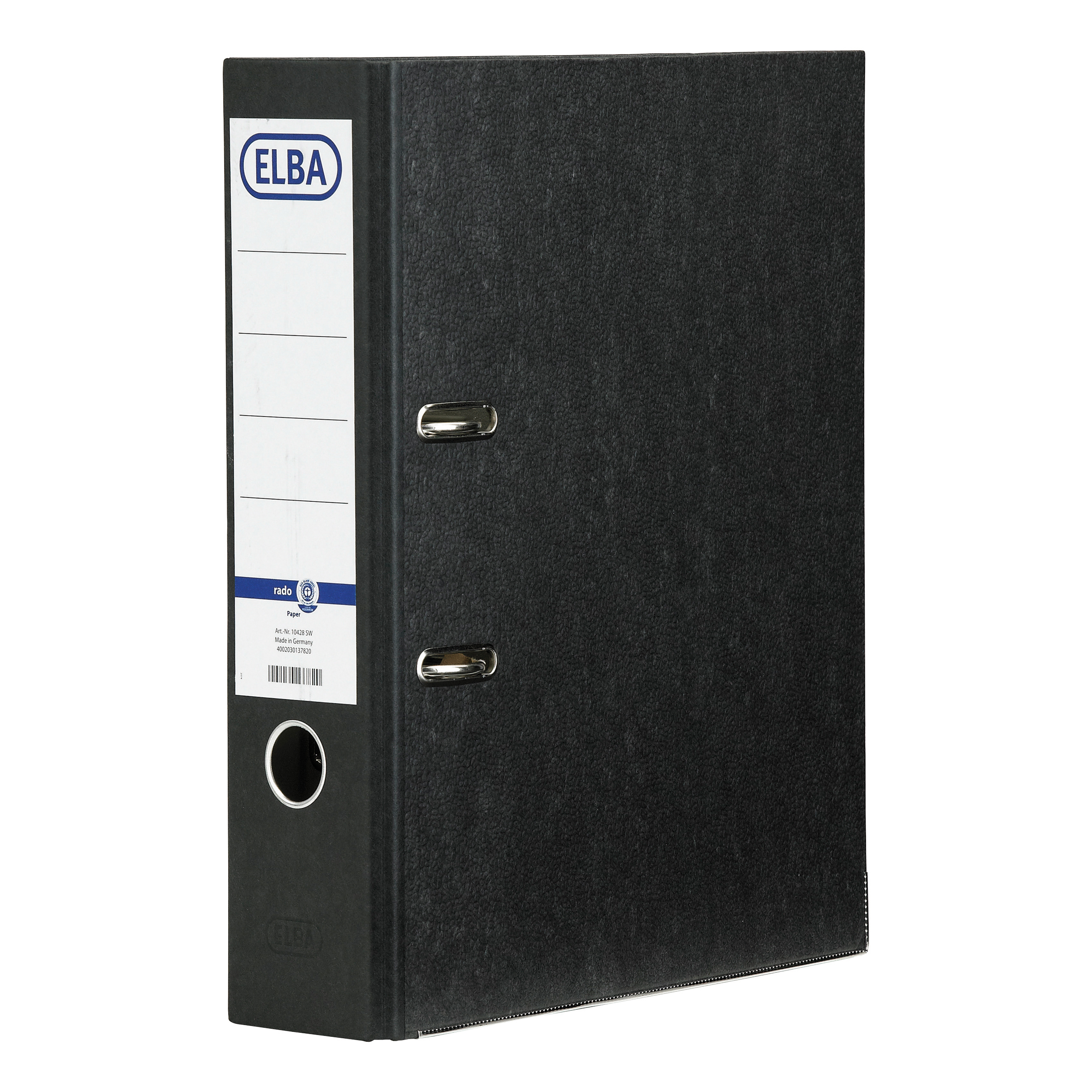 Elba Rado Lever Arch File A4 Cloud Paper Slotted Cover 80mm Spine Ref B1042809 [Pack 10]