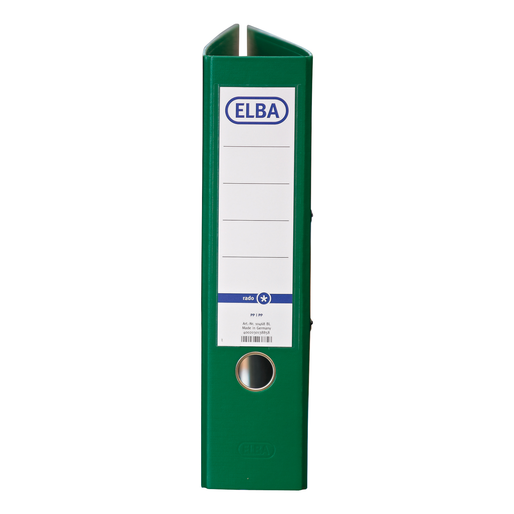 Elba Lever Arch File A4 Coloured Paper on Board Capacity 70mm Green Ref 100202219 [Pack 10]