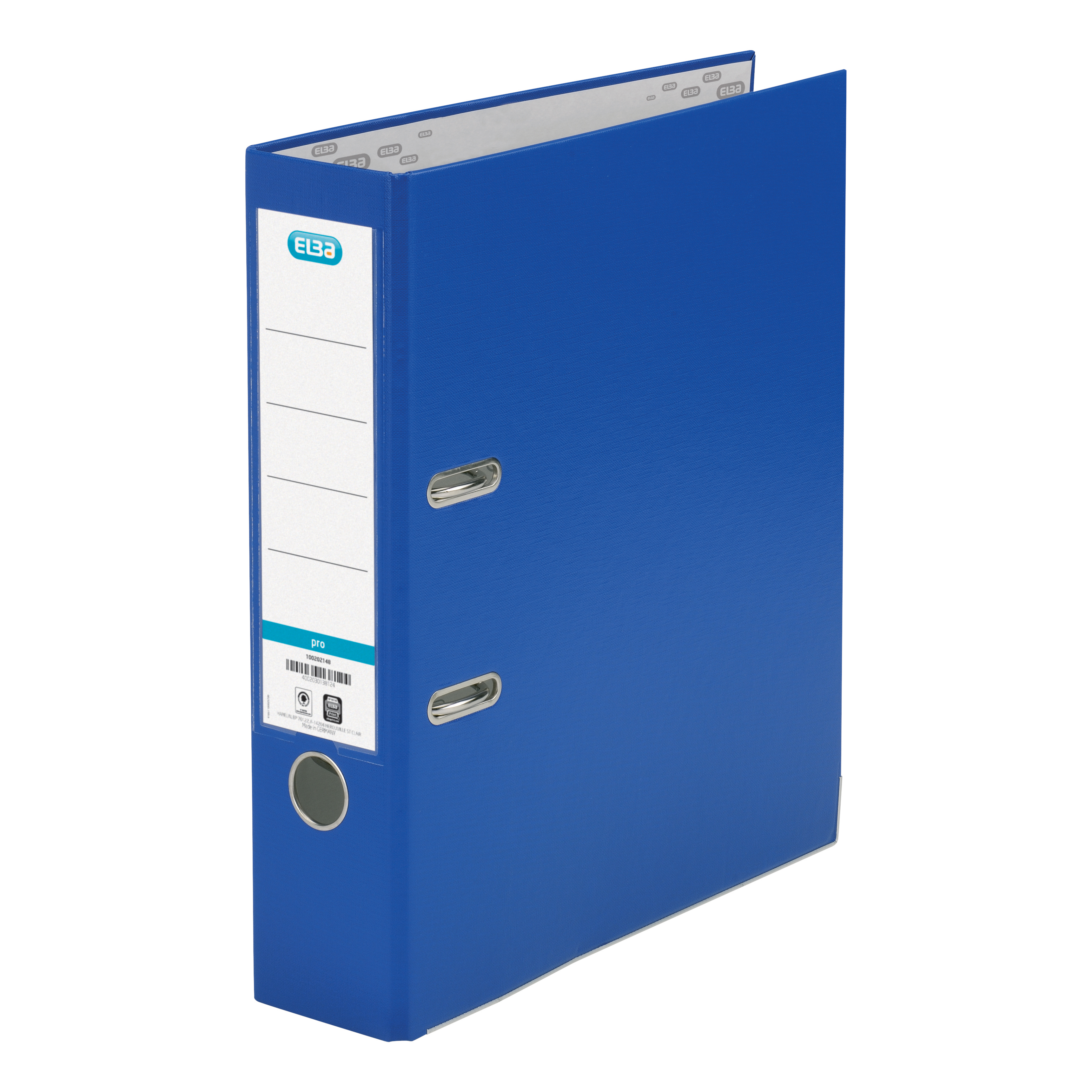 Elba Lever Arch File Polypropylene 70mm Spine A4 Blue Ref 100025926 Pack 10