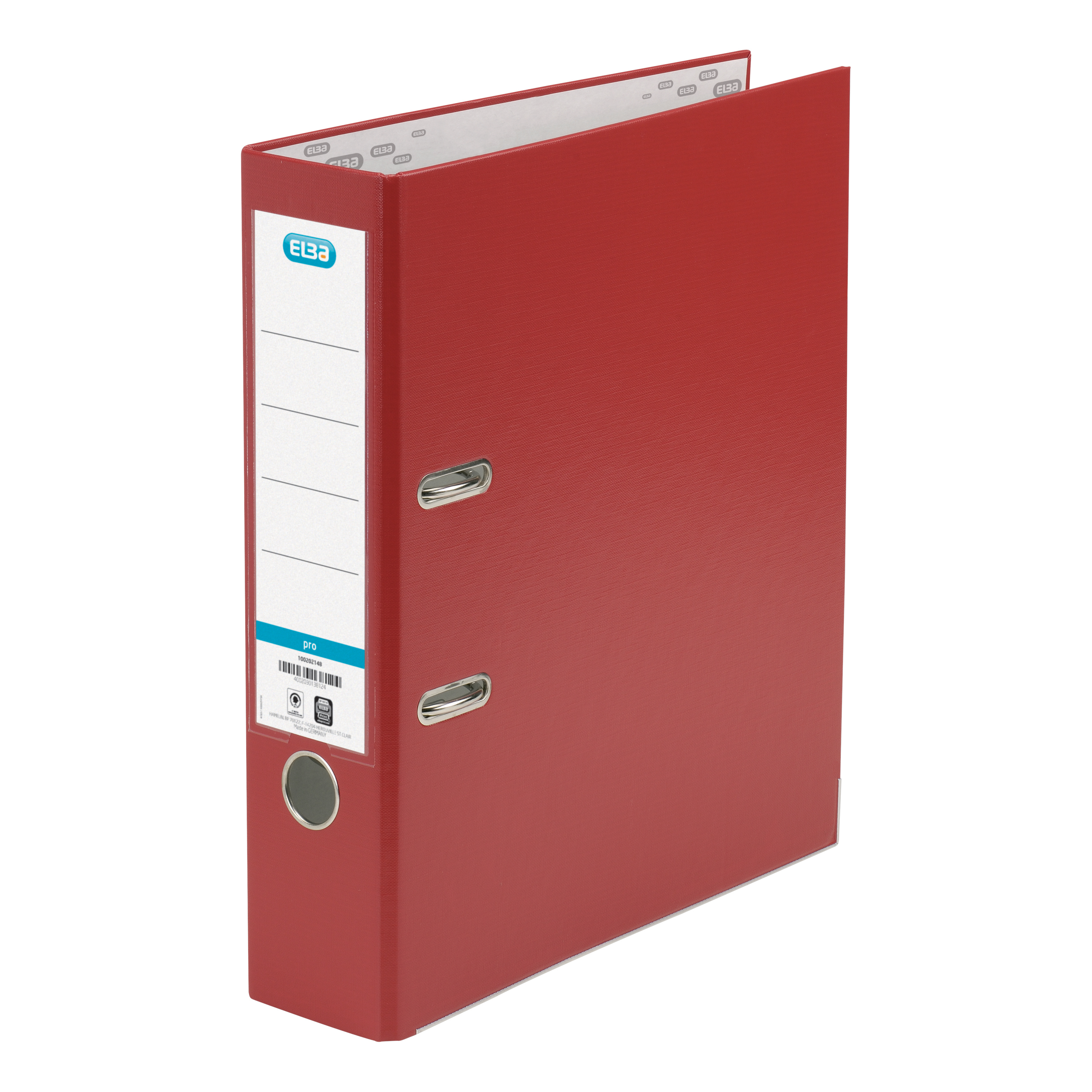 Elba Lever Arch File Polypropylene 70mm Spine A4 Red Ref 100202172 Pack 10