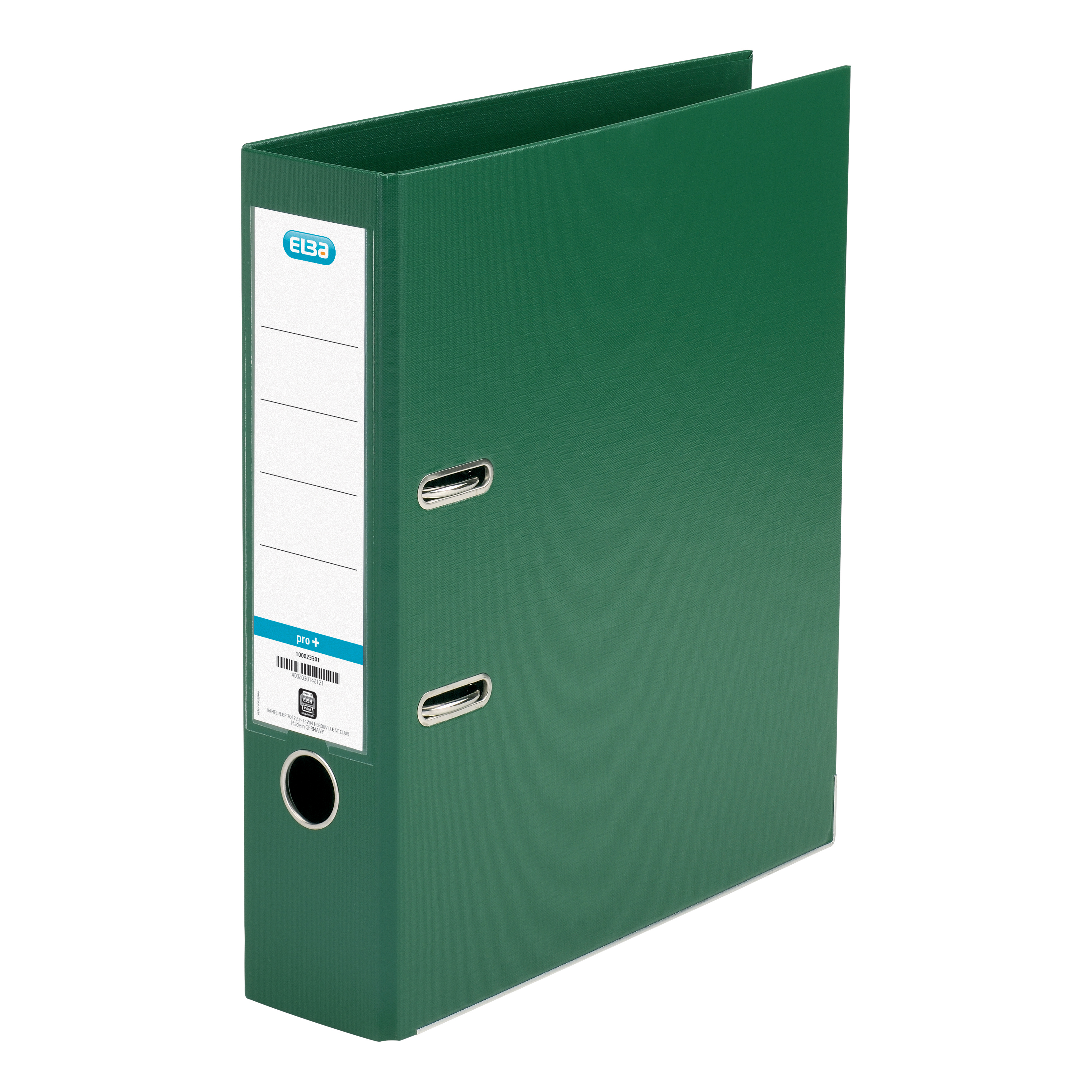Elba Lever Arch File Polypropylene 70mm Spine A4 Green Ref 100202174 Pack 10