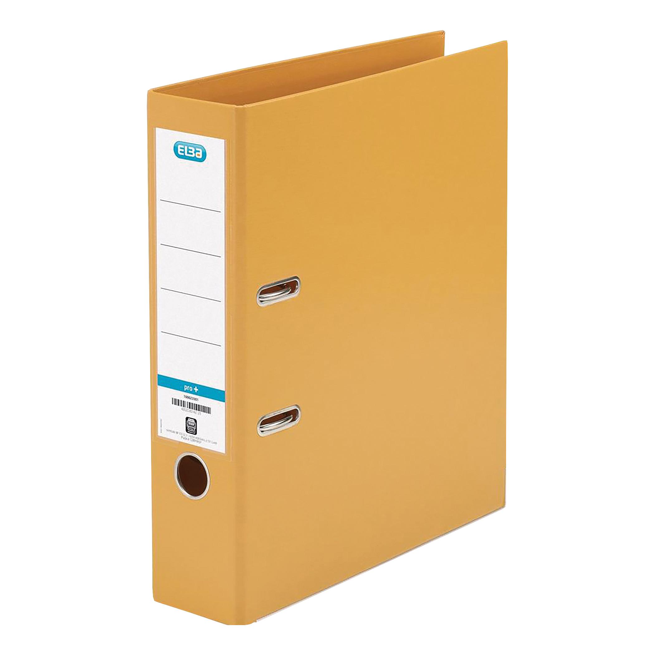Elba Lever Arch File PP 70mm Spine A4 Orange Ref 100202170 [Pack 10]