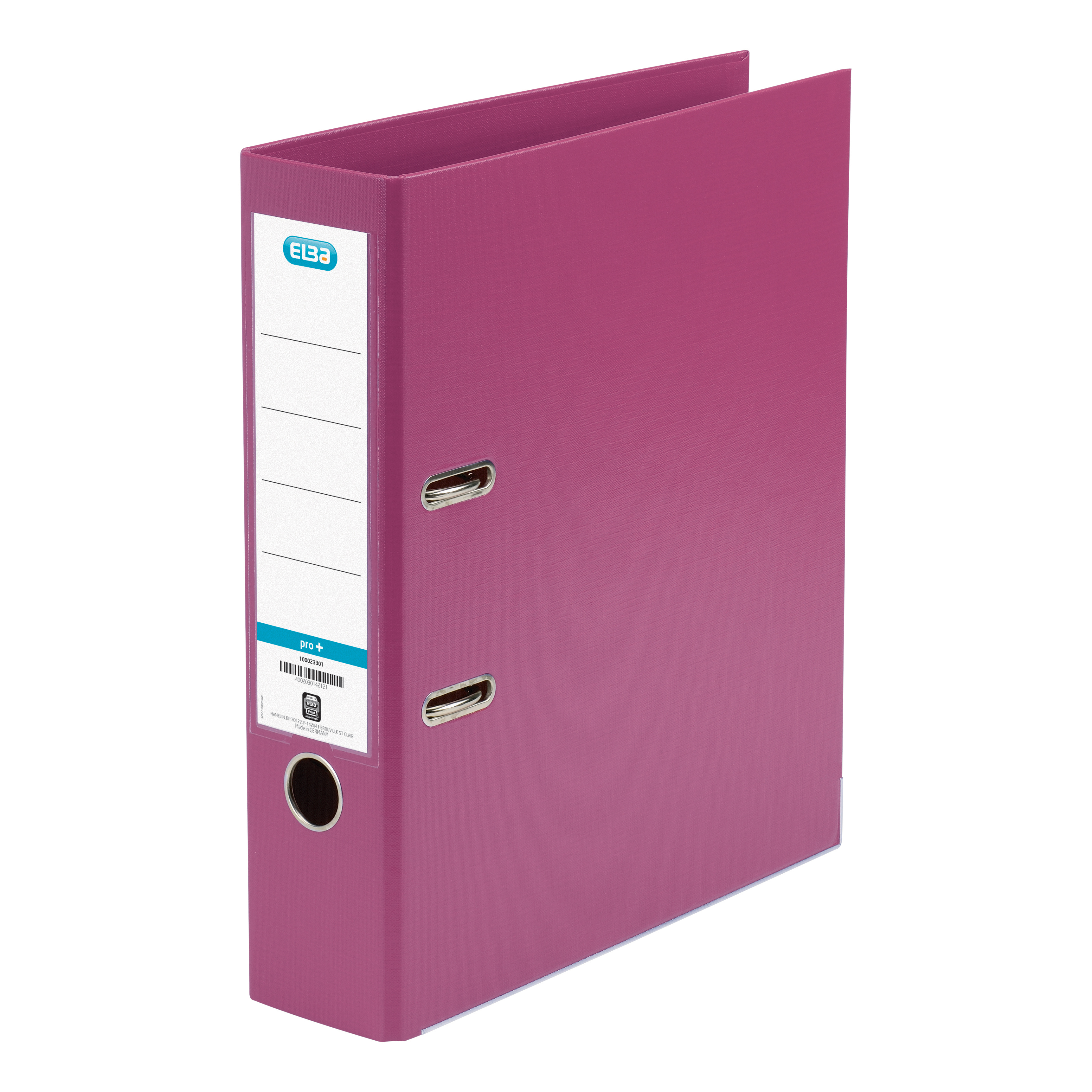 Elba Lever Arch File PP 70mm Spine A4 Pink Ref 100023300 Pack 10