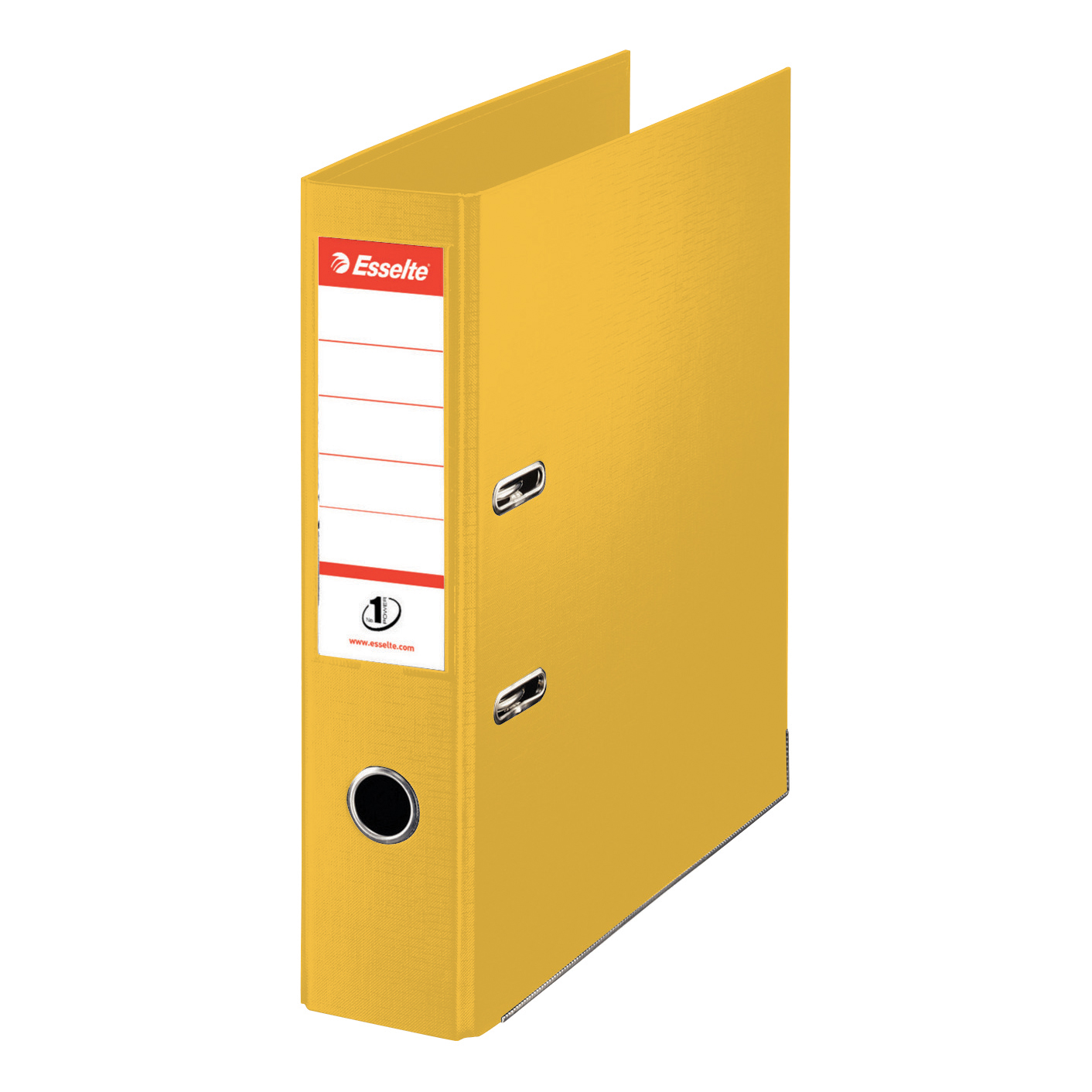 Esselte No. 1 Power Mini Lever Arch File PP Slotted 50mm Spine A4 Yellow Ref 811410 [Pack 10]