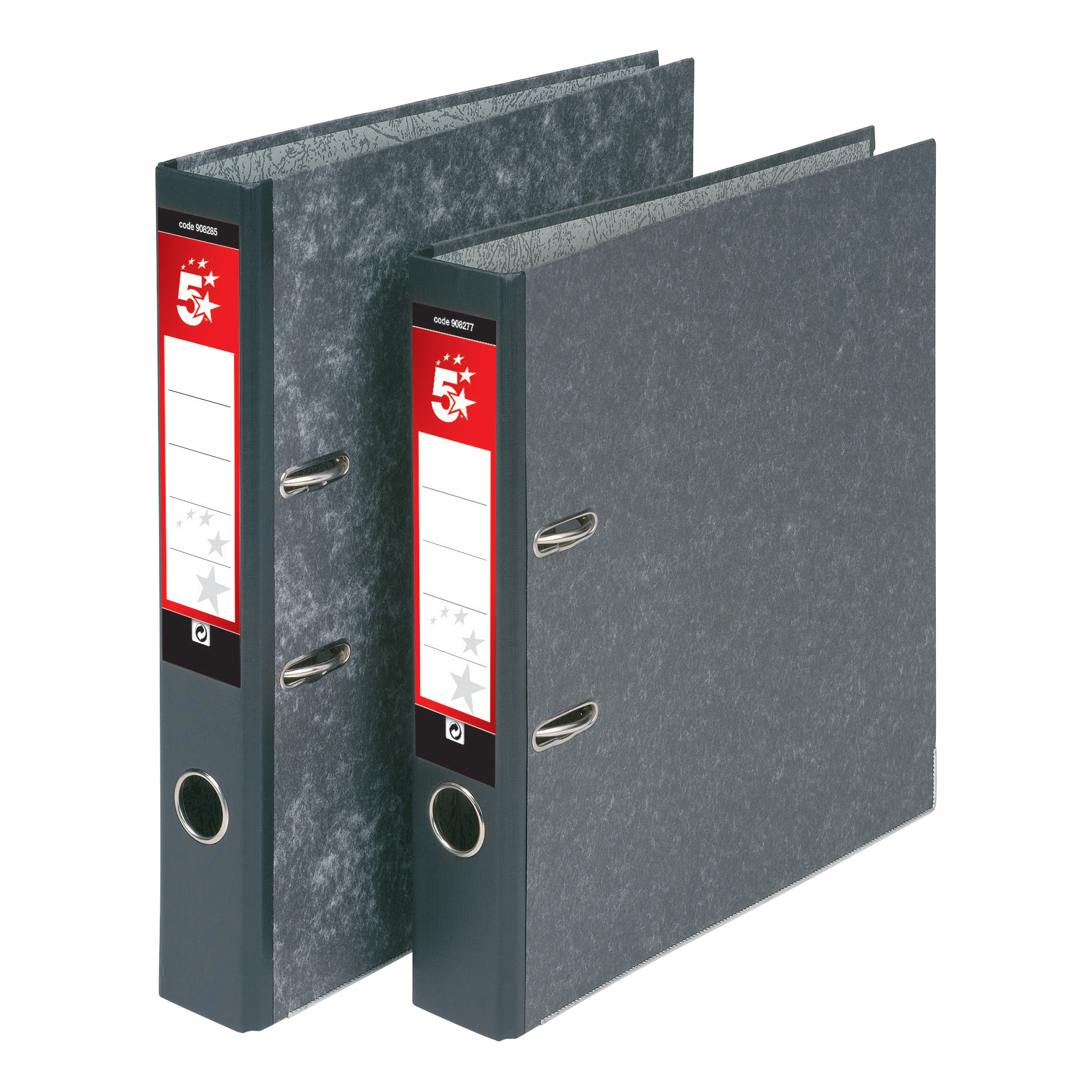 5 Star Office Mini Lever Arch File 50mm Spine A4 Cloudy Grey Pack 10