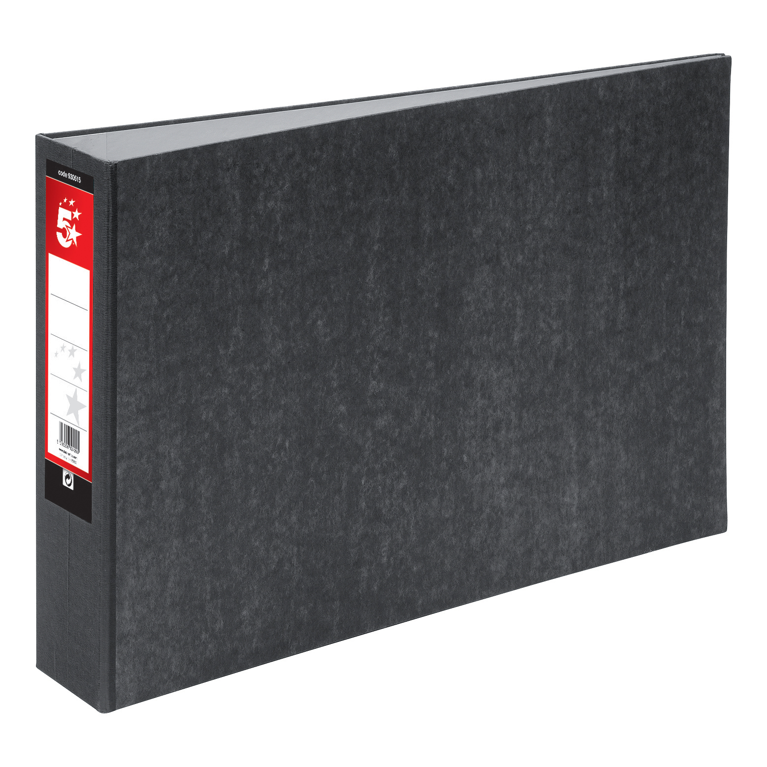 5 Star Office Lever Arch File 70mm Spine Oblong Landscape A3 Cloudy Grey Pack 2