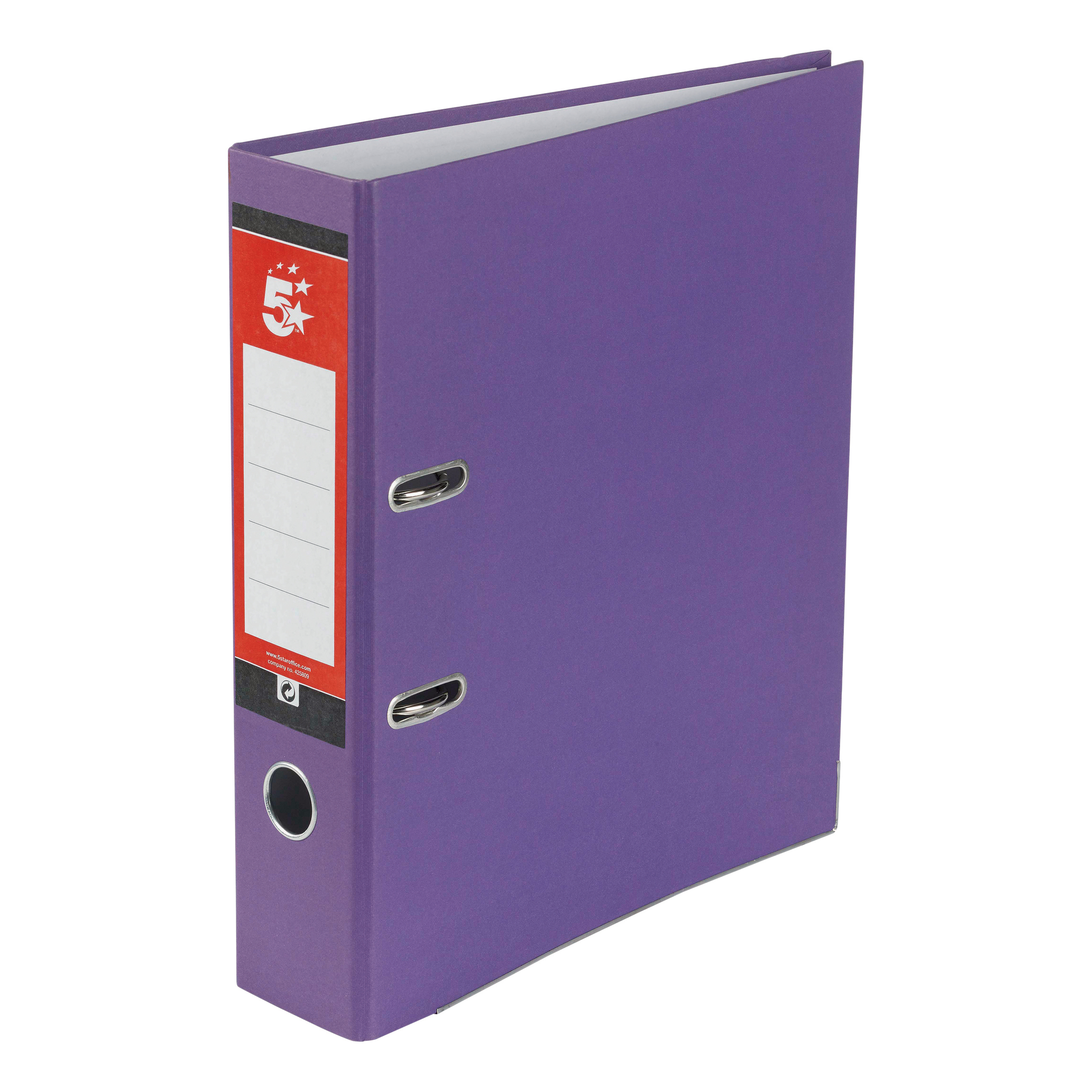 Lever Arch Files 5 Star Office Lever Arch File 70mm A4 Purple Pack 10
