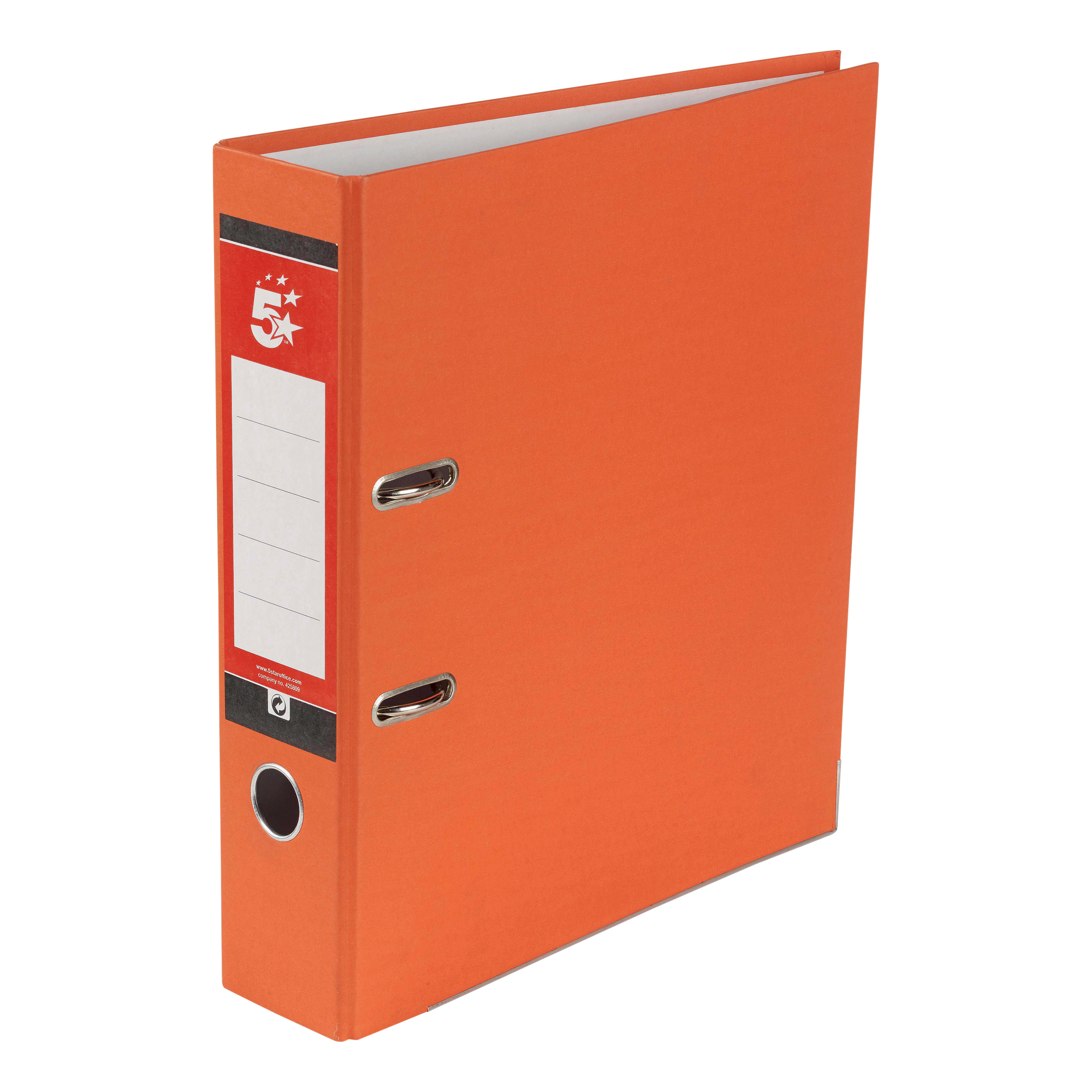 5 Star Office Lever Arch File 70mm A4 Orange Pack 10