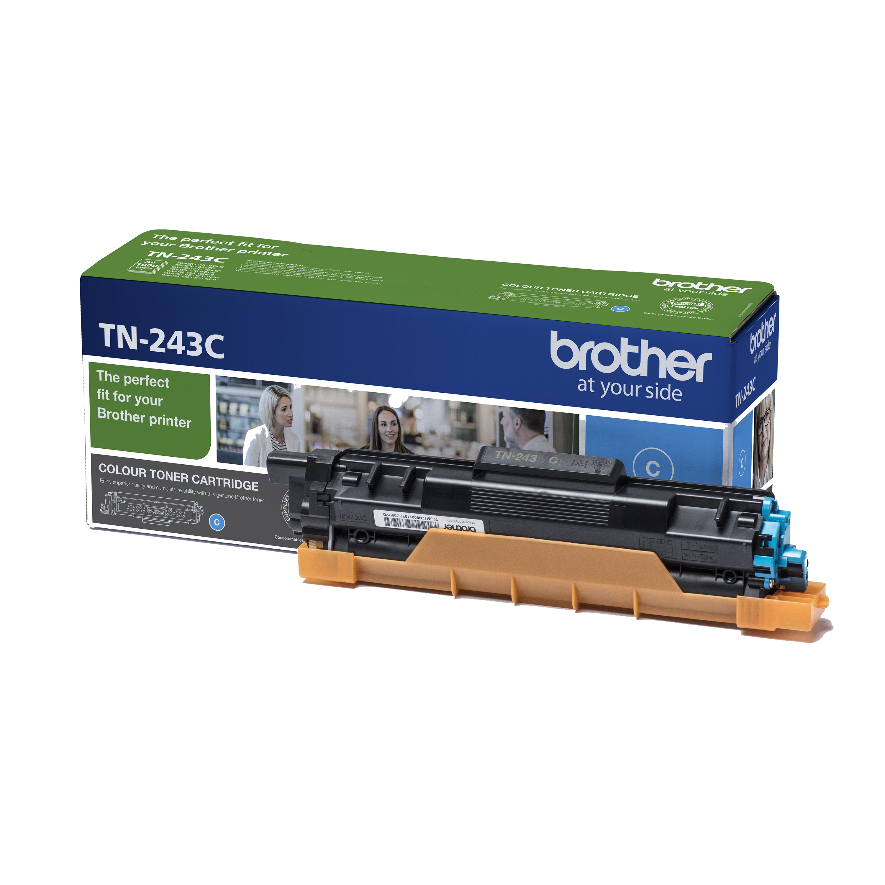 Brother TN243C Toner Cartridge Page Life 1000pp Cyan Ref TN243C