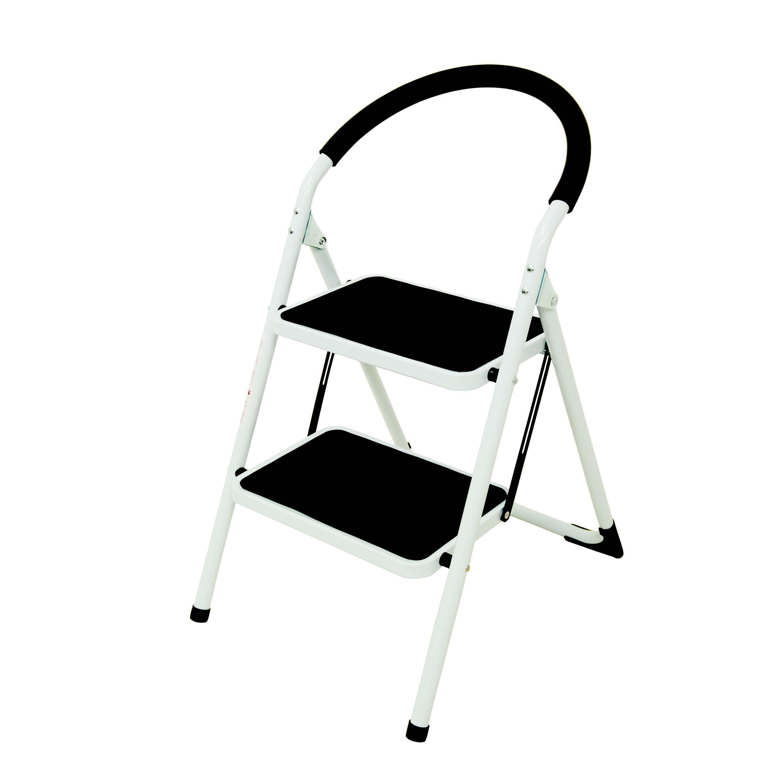 Folding Step Ladder 2 Tread Capacity 150kg White Frame