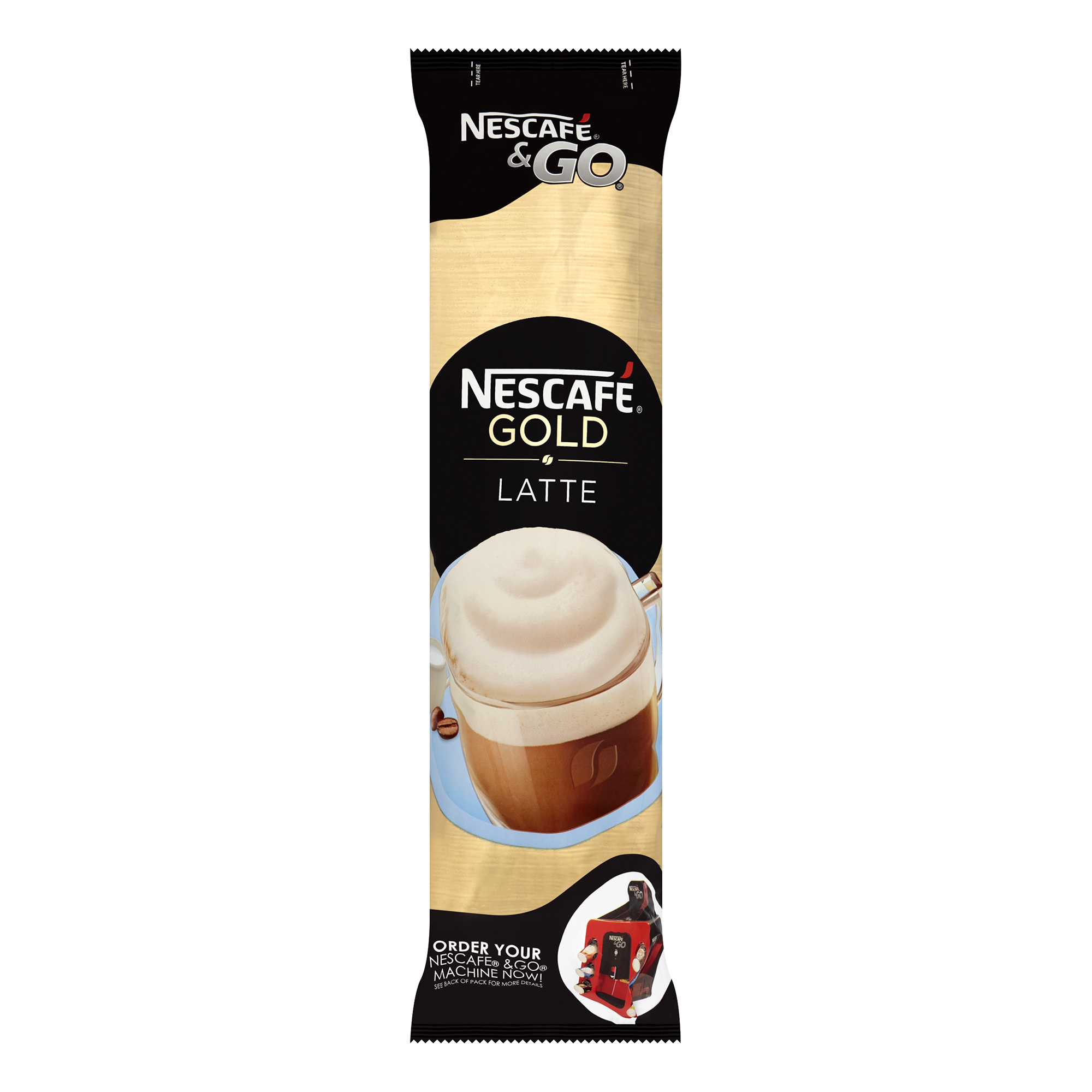 Coffee Nescafe & Go Gold Blend Latte Coffee Foil-Sealed Cup For Drinks Machine Ref 12367712 Pack 8