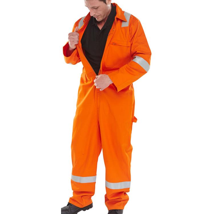 Click Fire Retardant Burgan Boilersuit Anti-Static Size 42 Orange Ref CFRASBBSOR42 *Up to 3 Day Leadtime*