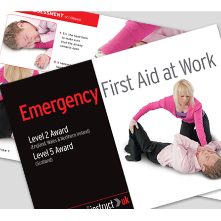 Click Medical Emergency First Aid Book Ref CM1316 *Up to 3 Day Leadtime*