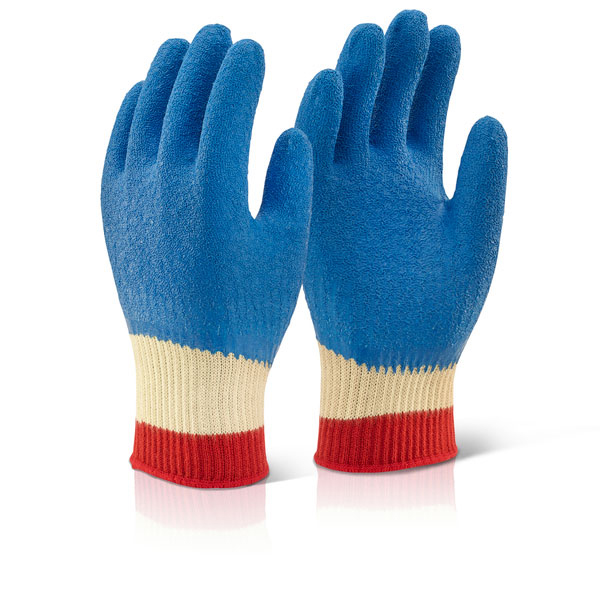 Click Kutstop Kevlar Latex Gloves Full Cuff Blue L Ref KLGFCL [Pack 10] Up to 3 Day Leadtime