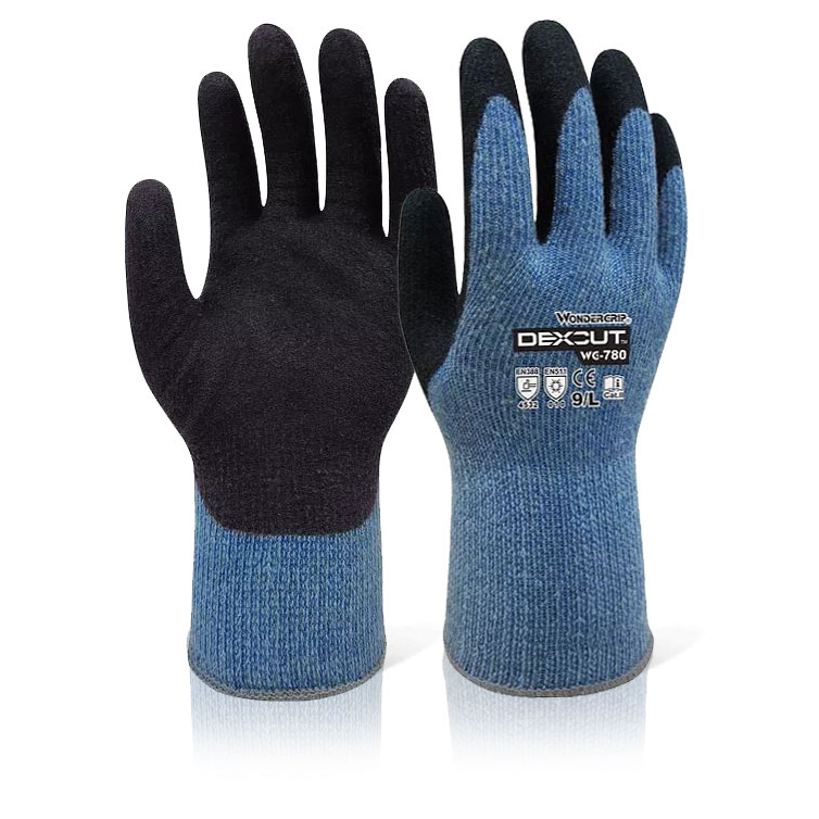 Wonder Grip WG-780 Dexcut Cold Resistant Glove Small Black Ref WG780S Up to 3 Day Leadtime