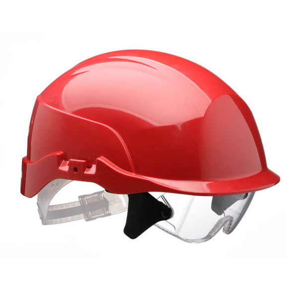 Centurion Spectrum Safety Helmet Blue with Eye Protection Red Ref CNS20REA Up to 3 Day Leadtime