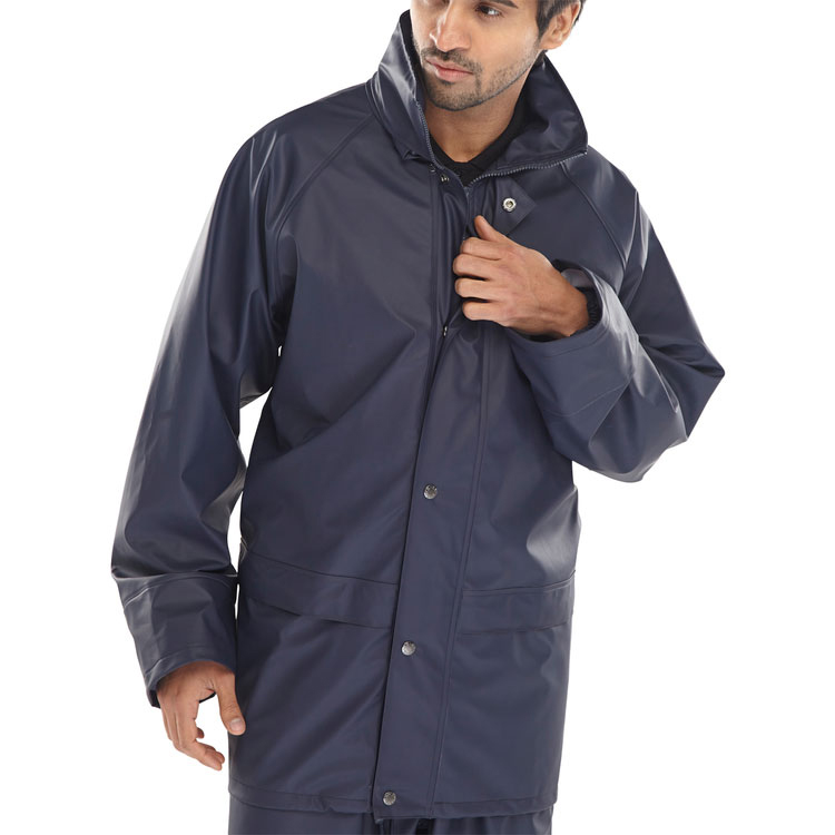 B-Dri Weatherproof Brecon Transfer Coated Jacket Navy Blue Xxl*Up to 3 Day Leadtime*
