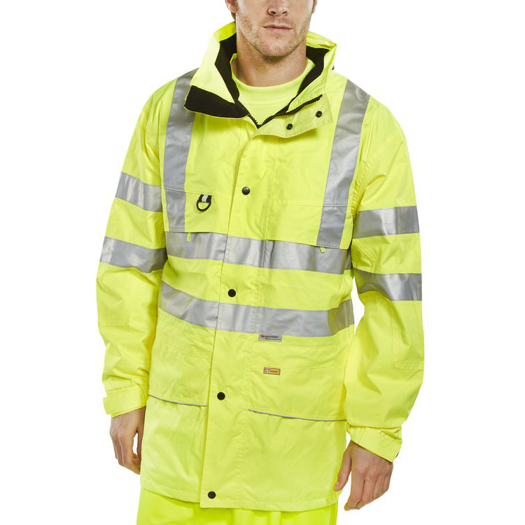 B-Seen High Visibility Carnoustie Jacket Large Saturn Yellow Ref CARSYL *Up to 3 Day Leadtime*