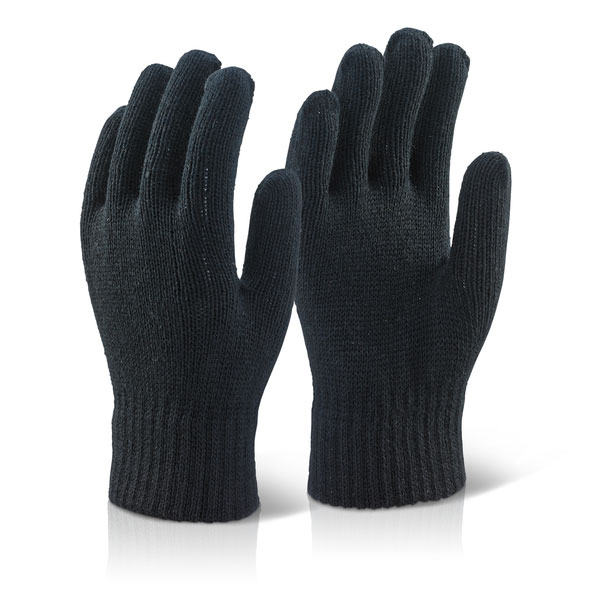 Click2000 Acrylic Glove Black Ref ACG [Pack 10] Up to 3 Day Leadtime