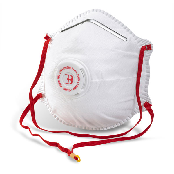 B-Brand P2 Valve Mask Polypropylene Latex-free White Ref BBP2V [Pack 10] Up to 3 Day Leadtime