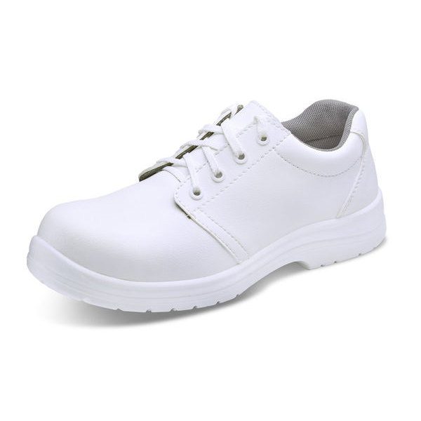 Click Footwear Tie Shoes Micro Fibre S2 Size 3 White Ref CF82203 *Up to 3 Day Leadtime*