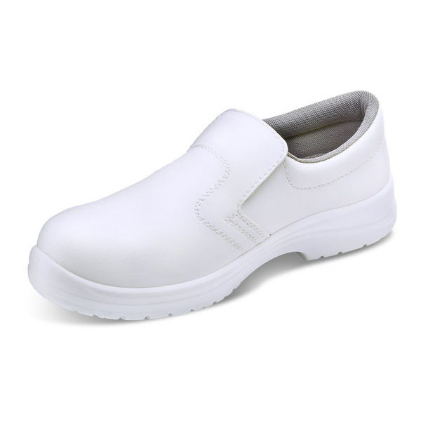 Click Footwear Slip-on Shoes Micro Fibre Size 3 White Ref CF83203 Up to 3 Day Leadtime