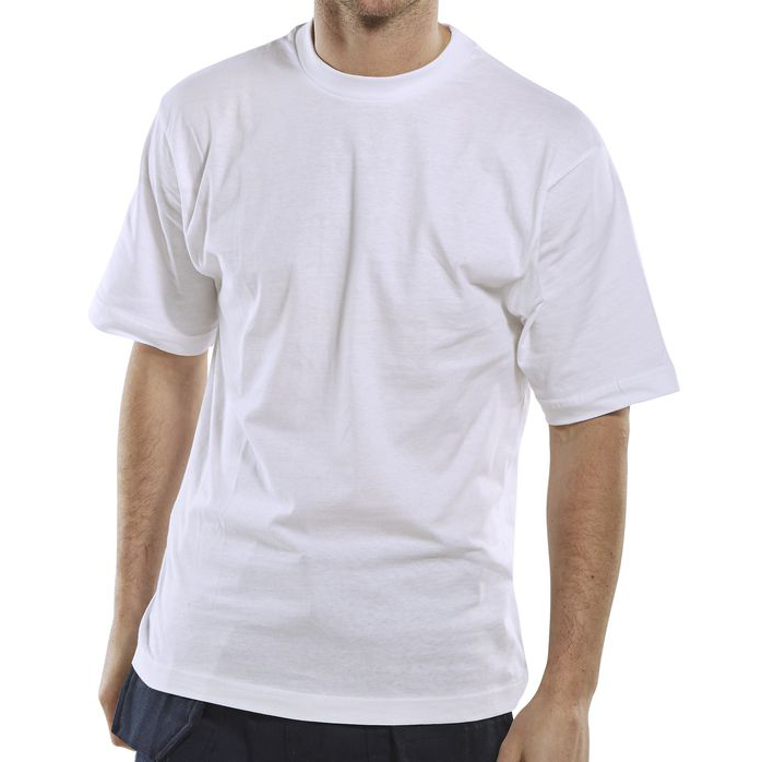 Limitless Click Workwear T-Shirt 150gsm Large White Ref CLCTSWL *Up to 3 Day Leadtime*