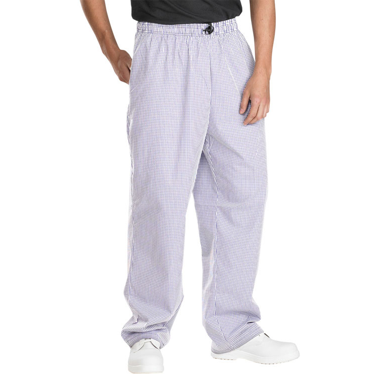 Click Workwear Chefs Trousers Small Check S Navy Blue/White Ref CCCTSCNWS Up to 3 Day Leadtime