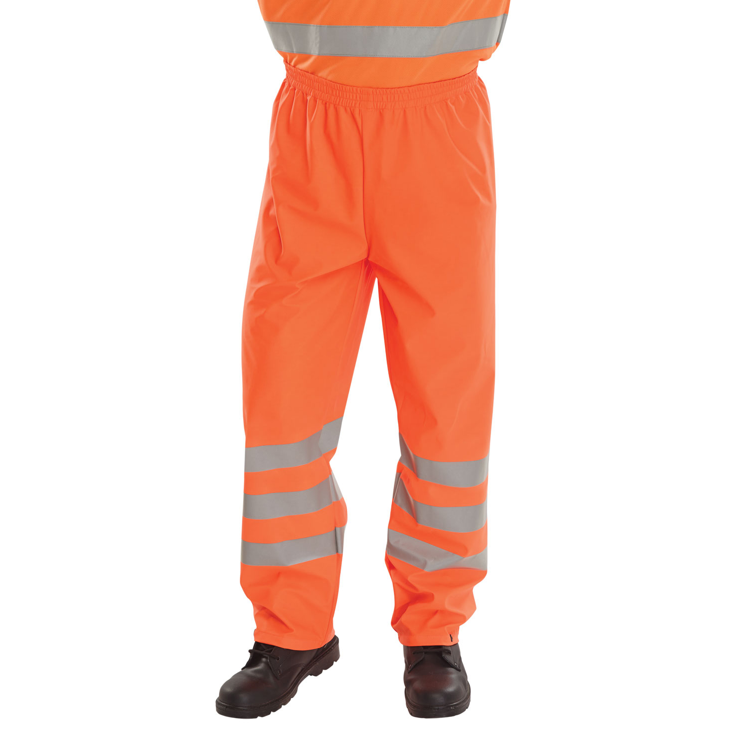BSeen Over Trousers PU Hi-Vis Reflective 4XL Orange Ref PUT471OR4XL Up to 3 Day Leadtime