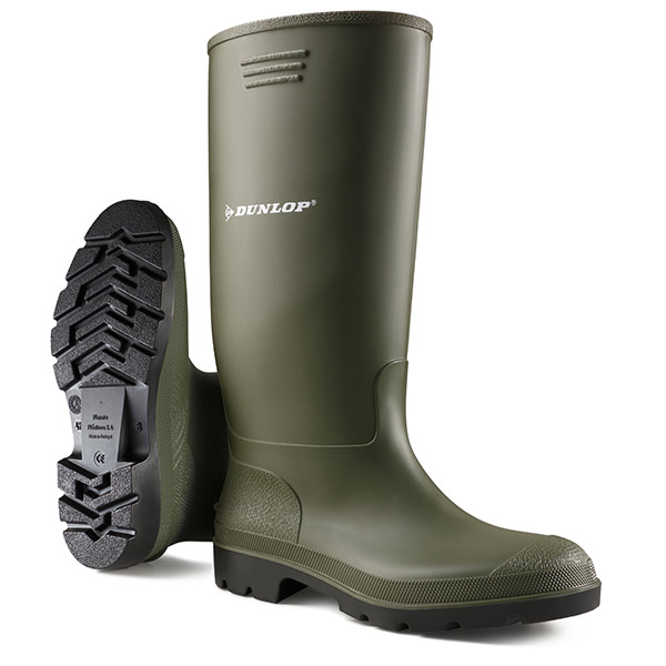 Dunlop Pricemastor Wellington Boot Size 10.5 Green Ref BBG10.5 Up to 3 Day Leadtime