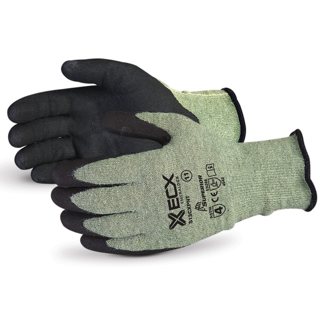 Superior Glove Emerald CX Kevlar Wire-Core Nitrile Palm 11 Black Ref SUS13CXPNT11 Up to 3 Day Leadtime
