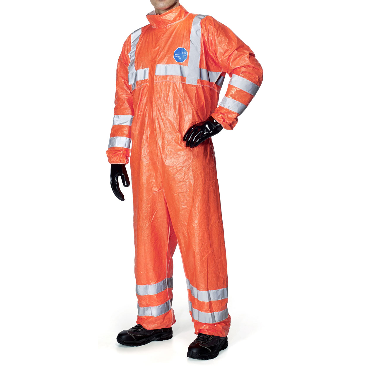 Tyvek 500 High Visibility Coverall Large Orange Ref TBS500HVL *Up to 3 Day Leadtime*