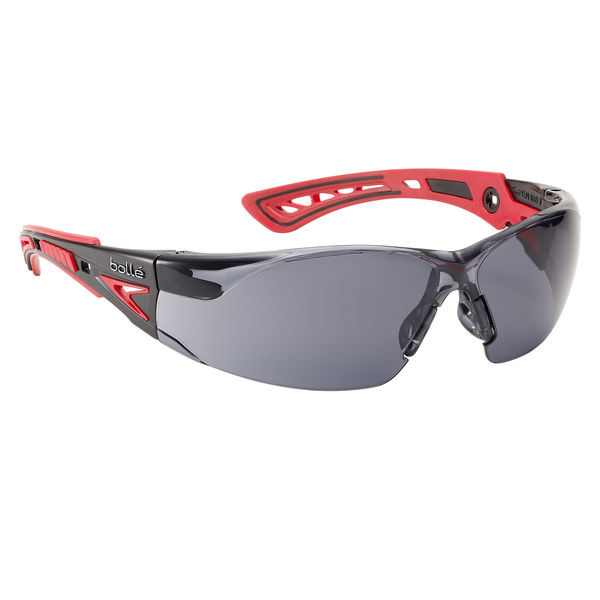 Bolle Rushplus Platinum Safety Glasses Smoke/Red Ref BORUSHPPSFPLUS Up to 3 Day Leadtime