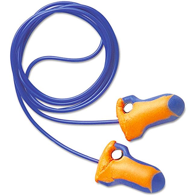 Howard Leight Laser Trak Detectable Earplugs Corded Orange/Blue Ref LT-30 [Pk 100] *Up to 3 Day Leadtime*