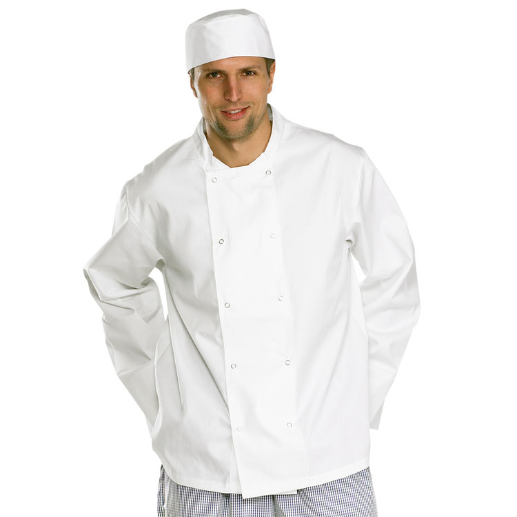 Click Workwear Chefs Jacket Long Sleeve Small White Ref CCCJLSWS Up to 3 Day Leadtime