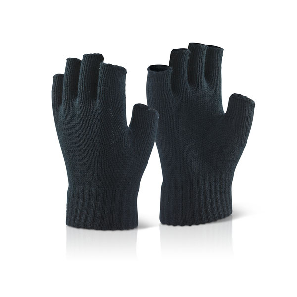 Click2000 Fingerless Mitts Black Ref FLM [Pack 10] *Up to 3 Day Leadtime*