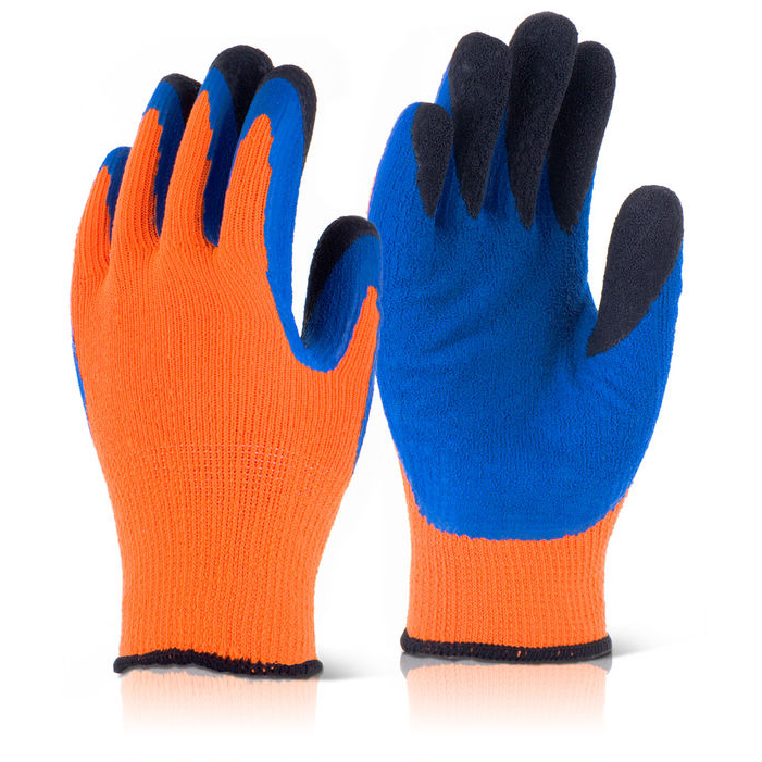 B-Flex Latex Thermo-Star Fully Dipped Glove Size 8 Orange Ref BF3OR08 *Up to 3 Day Leadtime*
