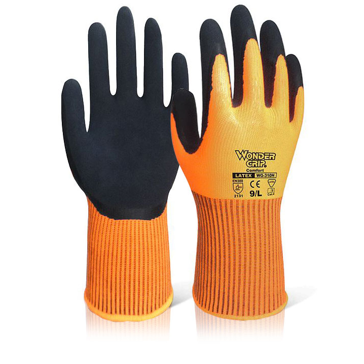 Wonder Grip WG-310H Comfort Hi-Vis Glove 8 Medium Orange Ref WG310HORM [Pack 12] Up to 3 Day Leadtime