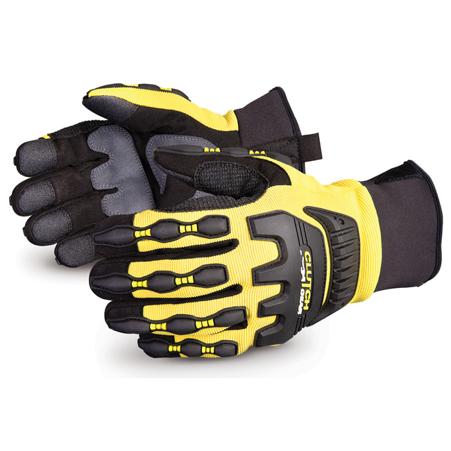 Superior Glove Clutch Gear Impact Protection Mechanics L Yellow Ref SUMXVSBFLL Up to 3 Day Leadtime