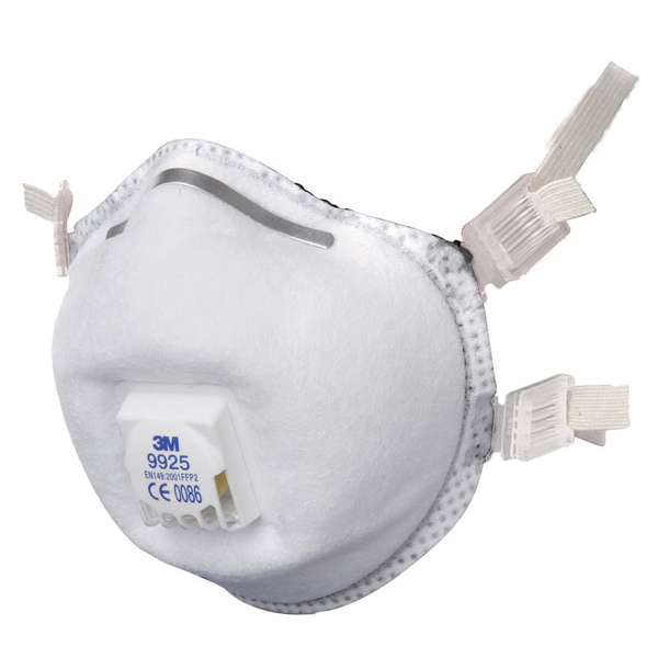 3M Welding Fume Respirator FFP2 White Ref 9925 [Pack 10] Up to 3 Day Leadtime