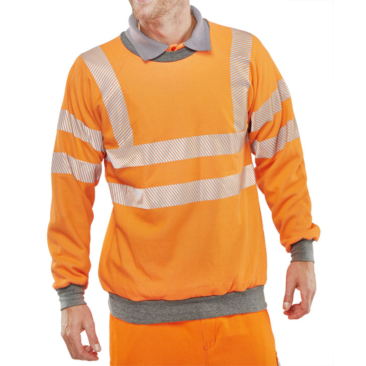 Click Arc Flash GO/RT Sweatshirt S Orange Ref CARC56ORS *Up to 3 Day Leadtime*