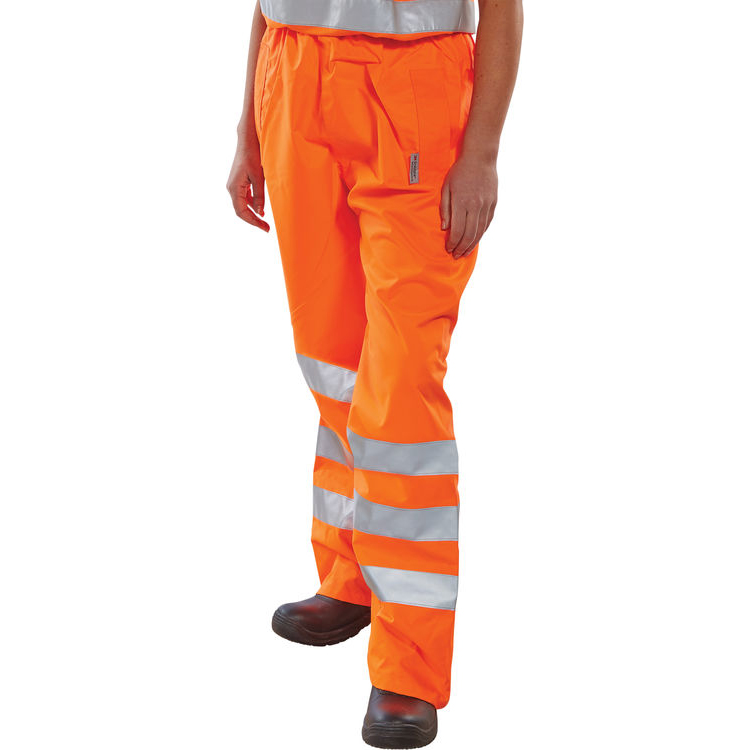 B-Seen Birkdale Over Trousers Polyester Hi-Vis L Orange Ref BITORL Up to 3 Day Leadtime