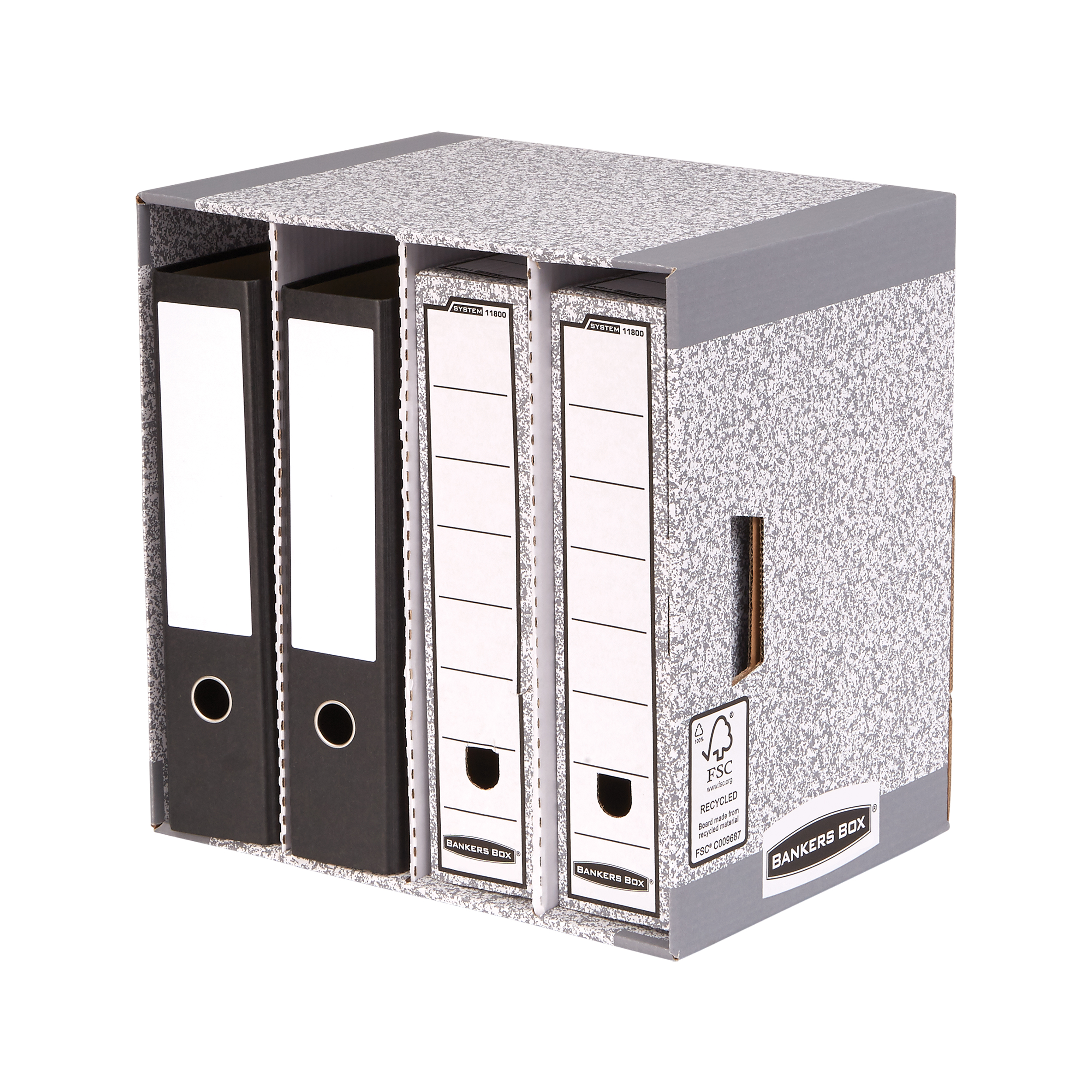 Lever Arch File Store Bankers Box by Fellowes System File Store W380xD280xH90mm Ref 01840 Pack 5