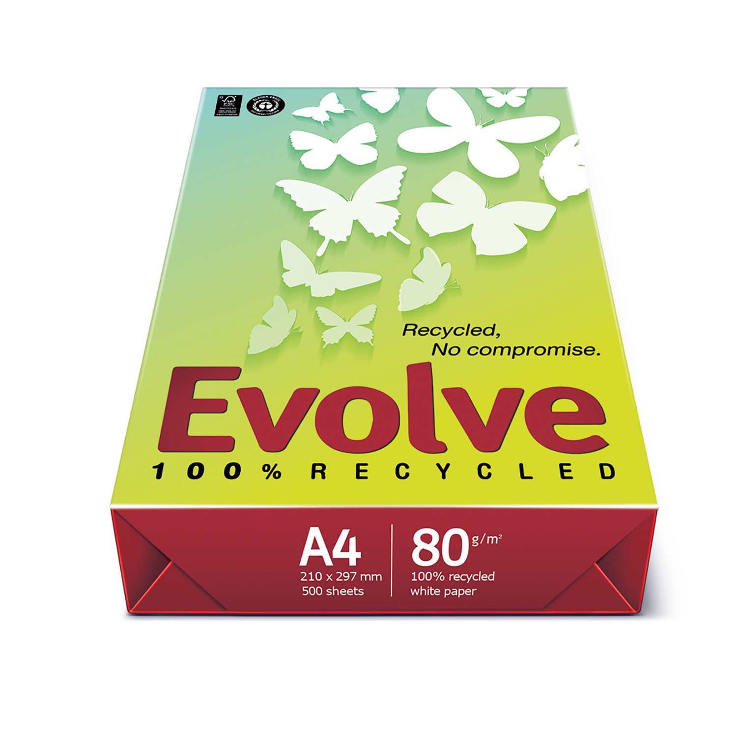 Evolve Everyday Paper FSC Recycled Ream-wrapped 80gsm A4 White Ref EVOL80A4 [500 Sheets]